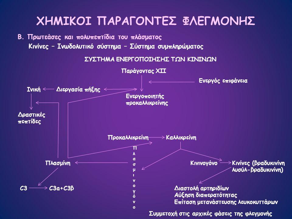 ΧΗΜΙΚΟΙ ΠΑΡΑΓΟΝΤΕΣ ΦΛΕΓΜΟΝΗΣ Β.