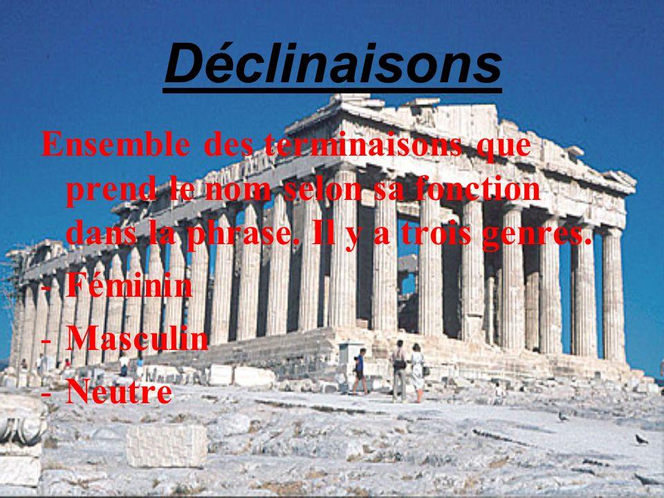 La civilisation en cours de Grec Découverte de la culture grecque.