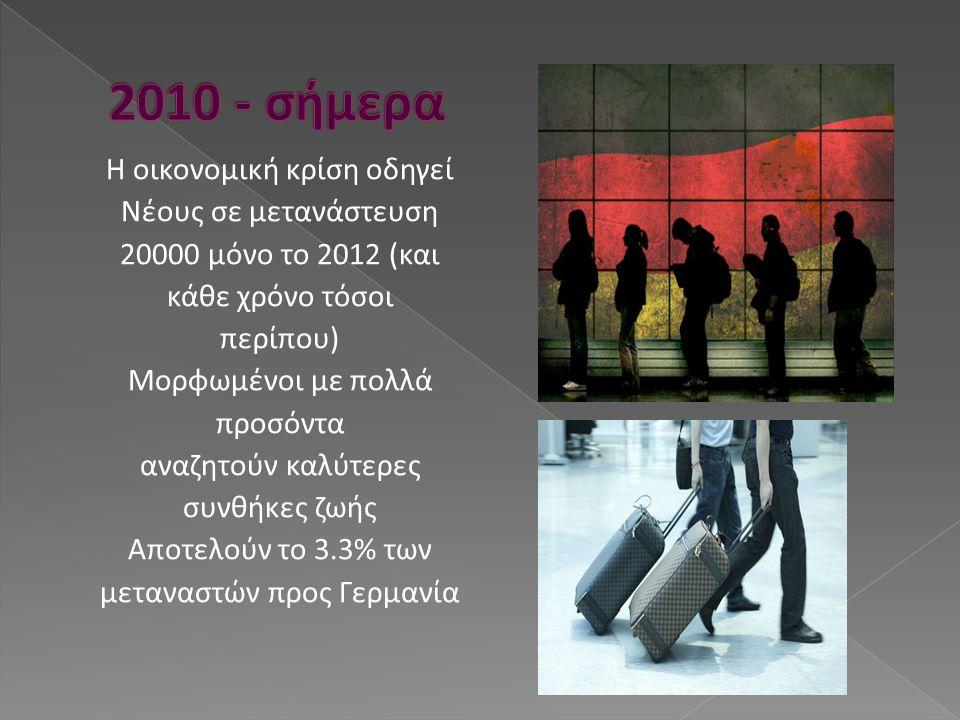 Η οικονομική κρίση οδηγεί Νέους σε μετανάστευση 20000 μόνο το 2012 (και κάθε χρόνο τόσοι περίπου) Μορφωμένοι με πολλά προσόντα αναζητούν καλύτερες συν