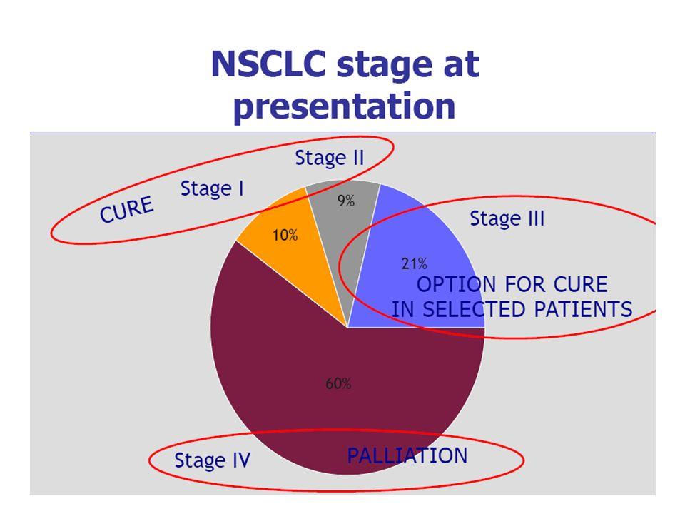 Θεραπεία συντήρησης Γενικά συνιστώνται 4-6 κύκλοι ΧΜΘ 1 ης γραμμής Πρόσφατα δεδομένα προτείνουν τη συνέχιση της θεραπείας με pemetrexed (για μη-πλακώδες Ca) ή με erlotinib (Tarceva)