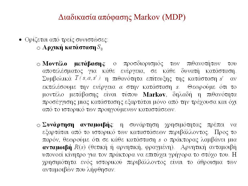 Διαδικασία απόφασης Markov (MDP)