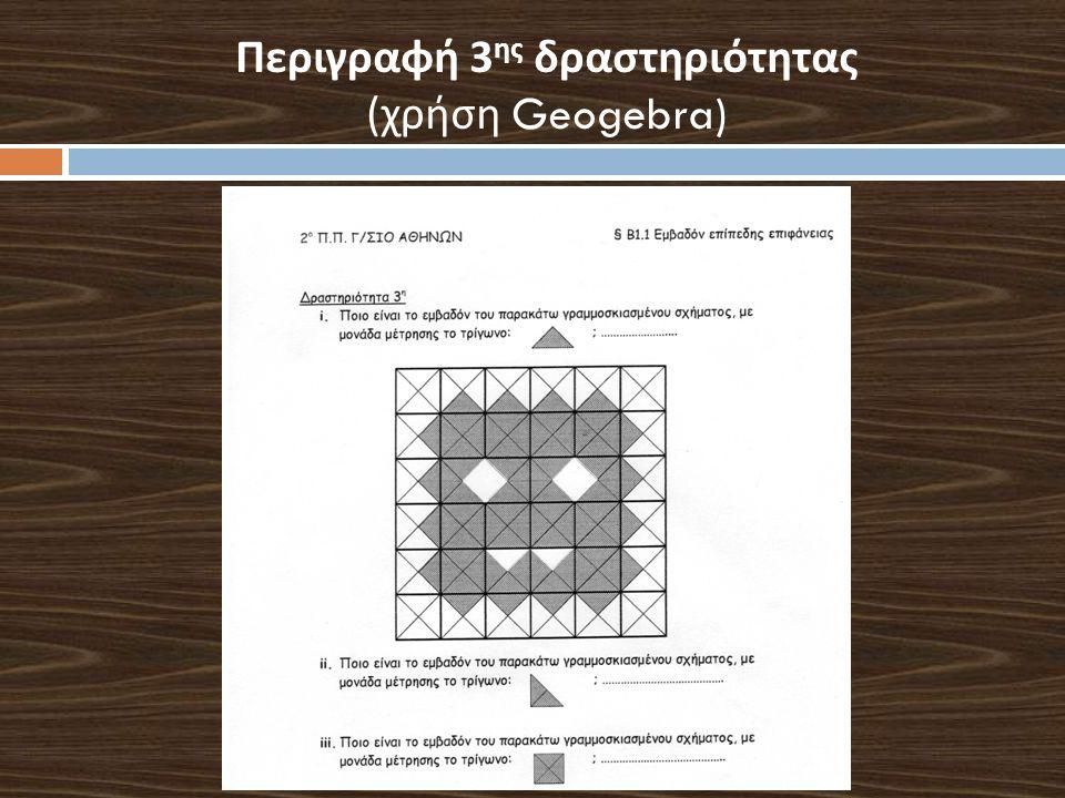 Περιγραφή 3 ης δραστηριότητας ( χρήση Geogebra)