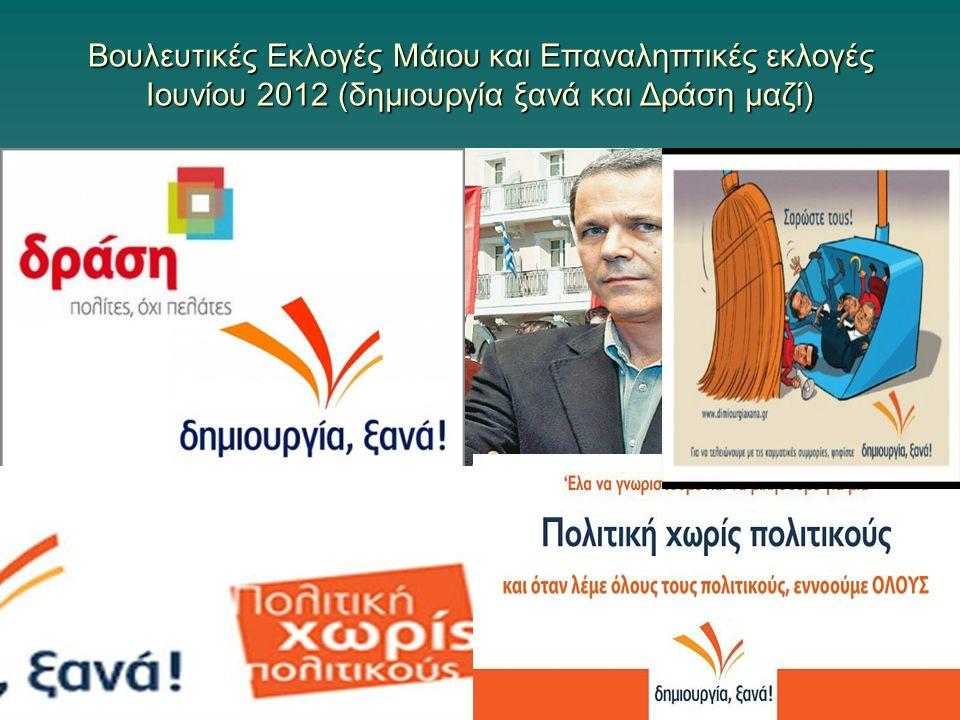 Βουλευτικές Εκλογές Μάιου και Επαναληπτικές εκλογές Ιουνίου 2012 (δημιουργία ξανά και Δράση μαζί)