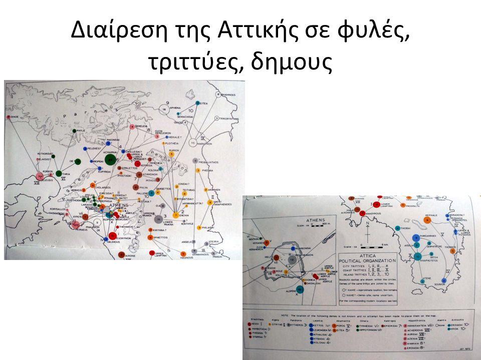 Διαίρεση της Αττικής σε φυλές, τριττύες, δημους