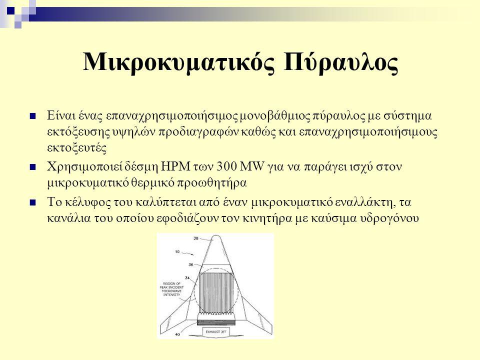 Μικροκυματικός Πύραυλος Είναι ένας επαναχρησιμοποιήσιμος μονοβάθμιος πύραυλος με σύστημα εκτόξευσης υψηλών προδιαγραφών καθώς και επαναχρησιμοποιήσιμους εκτοξευτές Χρησιμοποιεί δέσμη HPM των 300 MW για να παράγει ισχύ στον μικροκυματικό θερμικό προωθητήρα Το κέλυφος του καλύπτεται από έναν μικροκυματικό εναλλάκτη, τα κανάλια του οποίου εφοδιάζουν τον κινητήρα με καύσιμα υδρογόνου