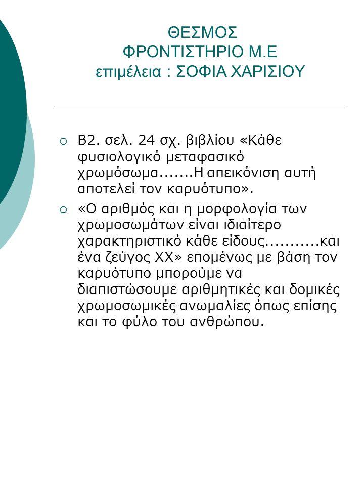 ΘΕΣΜΟΣ ΦΡΟΝΤΙΣΤΗΡΙΟ Μ.Ε επιμέλεια : ΣΟΦΙΑ ΧΑΡΙΣΙΟΥ  Β2.