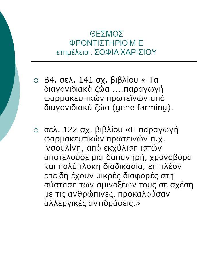 ΘΕΣΜΟΣ ΦΡΟΝΤΙΣΤΗΡΙΟ Μ.Ε επιμέλεια : ΣΟΦΙΑ ΧΑΡΙΣΙΟΥ  Β4.