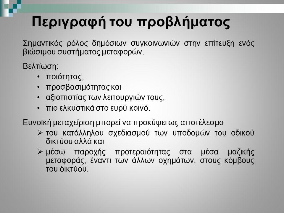Παρουσιάσεις σε 3 διεθνή συνέδρια:  2 nd International Symposium & 24th National Conference on Operational Research, Athens, Greece, September 26-28, 2013.