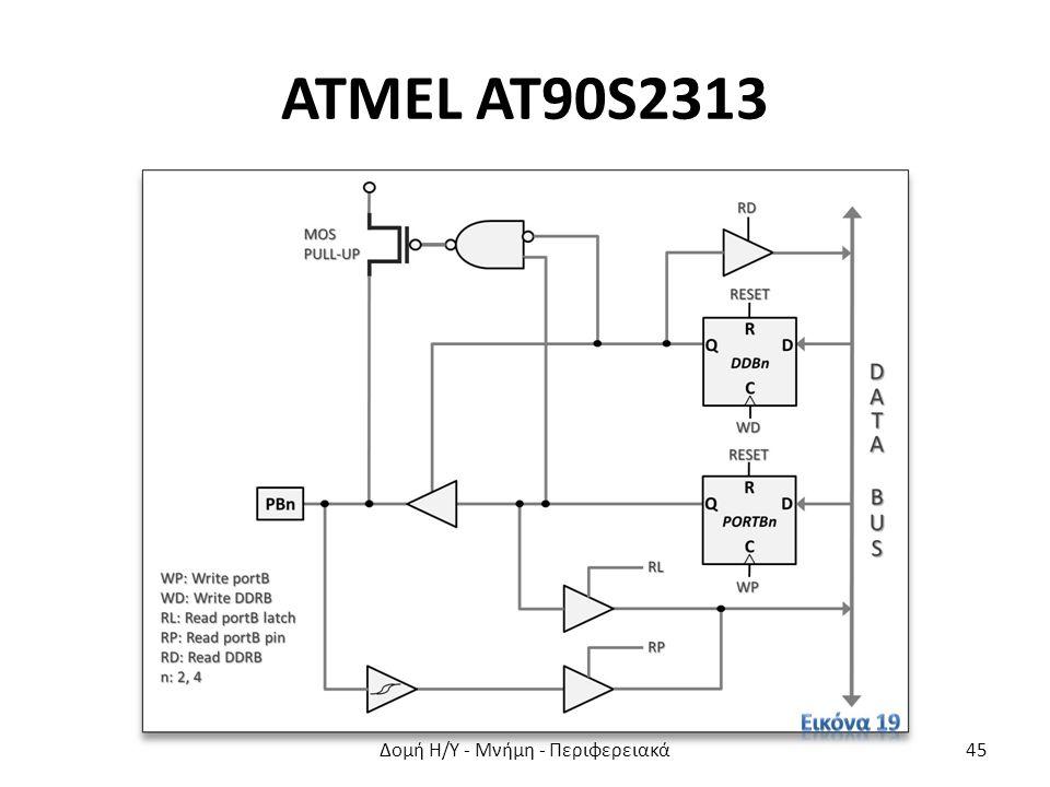 ATMEL AT90S2313 Δομή Η/Υ - Μνήμη - Περιφερειακά45