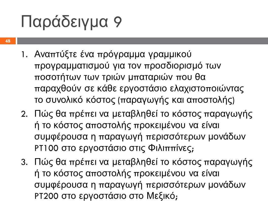 Παράδειγμα 9 1.