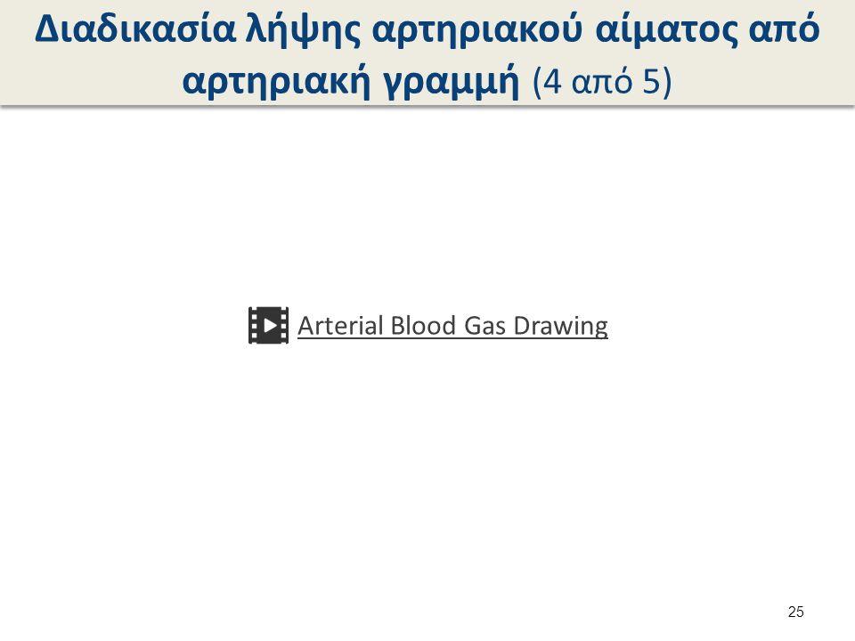 Διαδικασία λήψης αρτηριακού αίματος από αρτηριακή γραμμή (4 από 5) Arterial Blood Gas Drawing 25