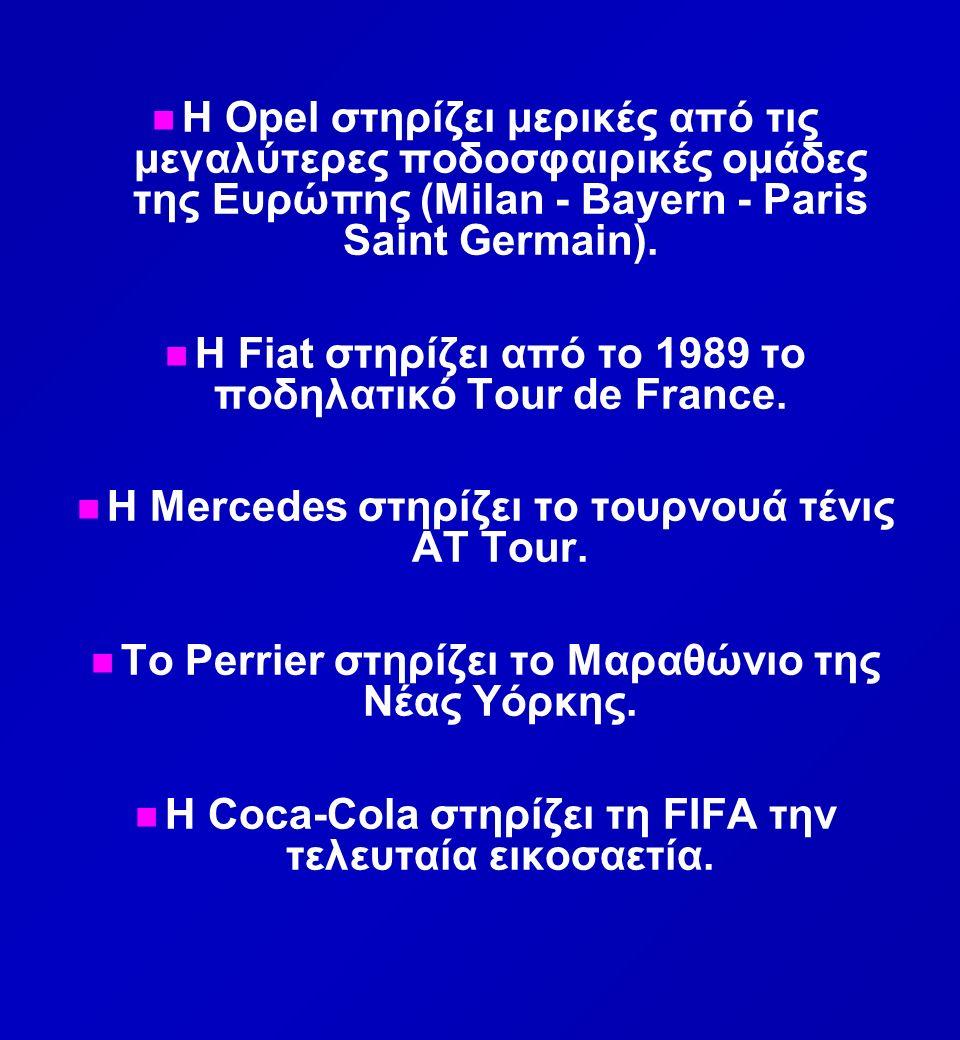 n n Η Opel στηρίζει μερικές από τις μεγαλύτερες ποδοσφαιρικές ομάδες της Ευρώπης (Milan - Bayern - Paris Saint Germain).