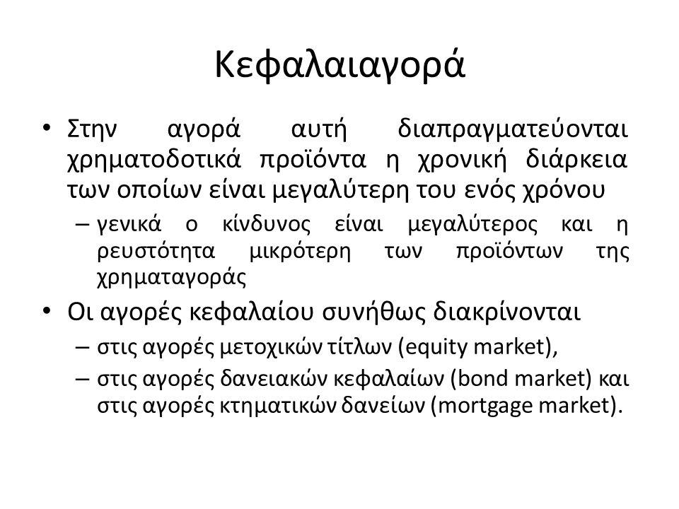 Χρηματοπιστωτικά Μέσα Τα χρηματοπιστωτικά μέσα έχουν τα ακόλουθα γενικά χαρακτηριστικά: – Χρονική διάρκεια (ληκτότητα) μικρότερη του έτους – Η ρευστοποίηση εύκολη.