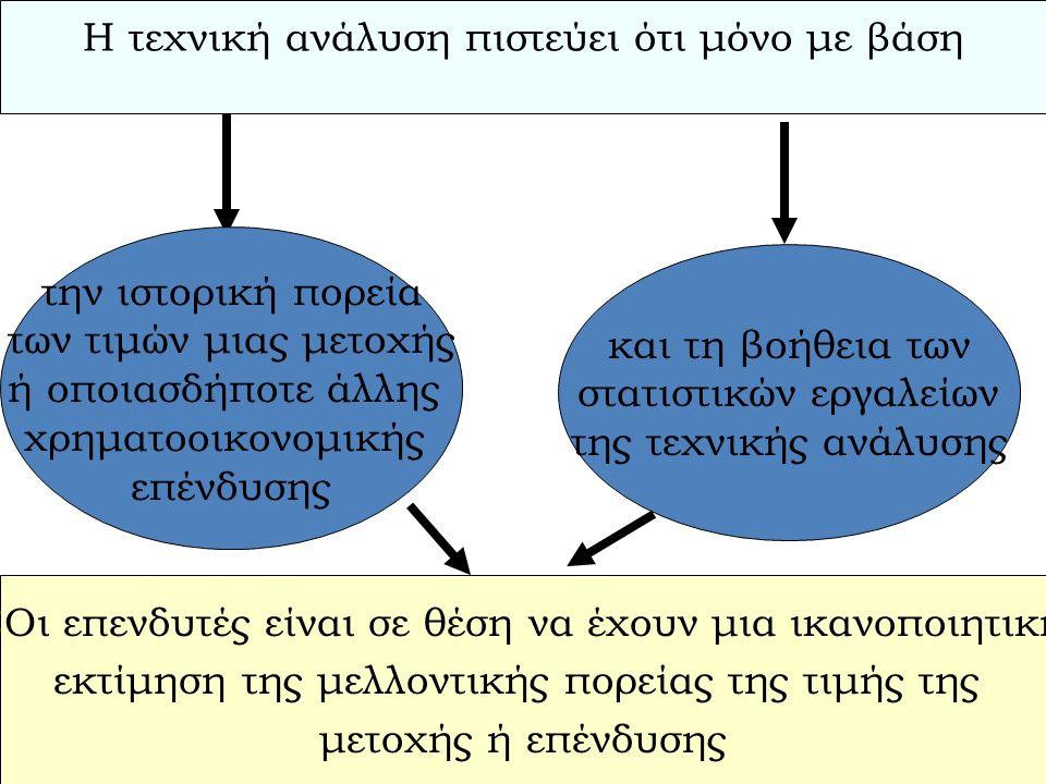 Θεμελιώδης Ανάλυση Στην ενότητα αυτή ανήκει η κλασική θεωρία των μετοχικών αξιών η οποία υποστηρίζει ότι η βασική αιτία των μεταβολών των μετοχικών αξιών είναι τα προβλεπόμενα κέρδη.