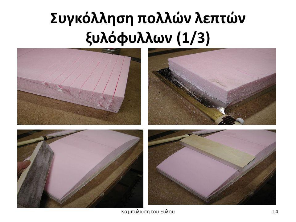 Συγκόλληση πολλών λεπτών ξυλόφυλλων (1/3) Καμπύλωση του Ξύλου14