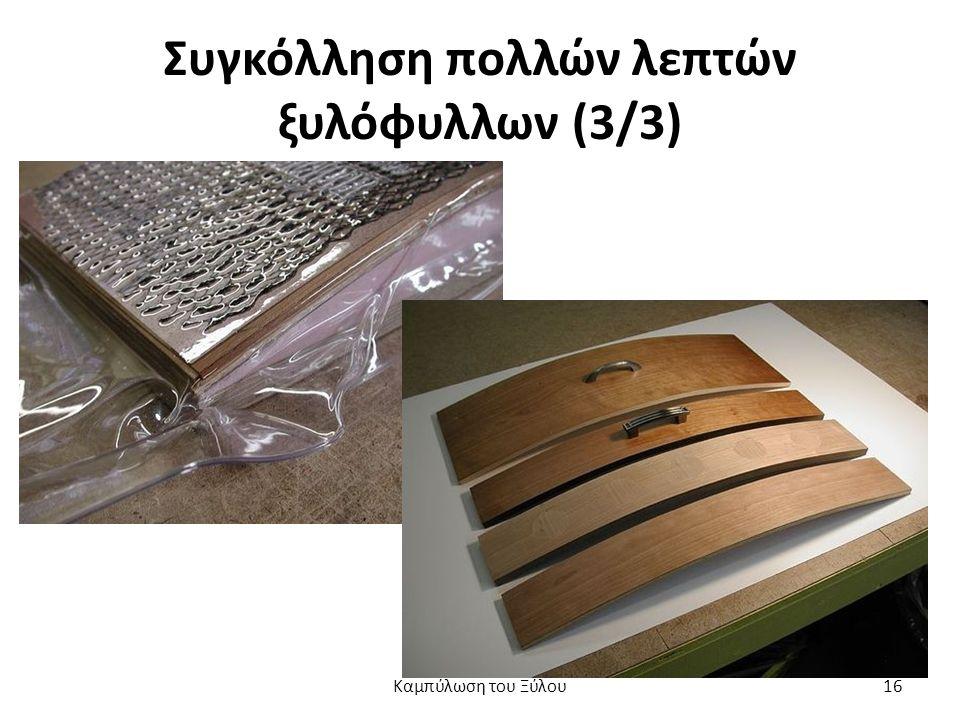 Συγκόλληση πολλών λεπτών ξυλόφυλλων (3/3) Καμπύλωση του Ξύλου16
