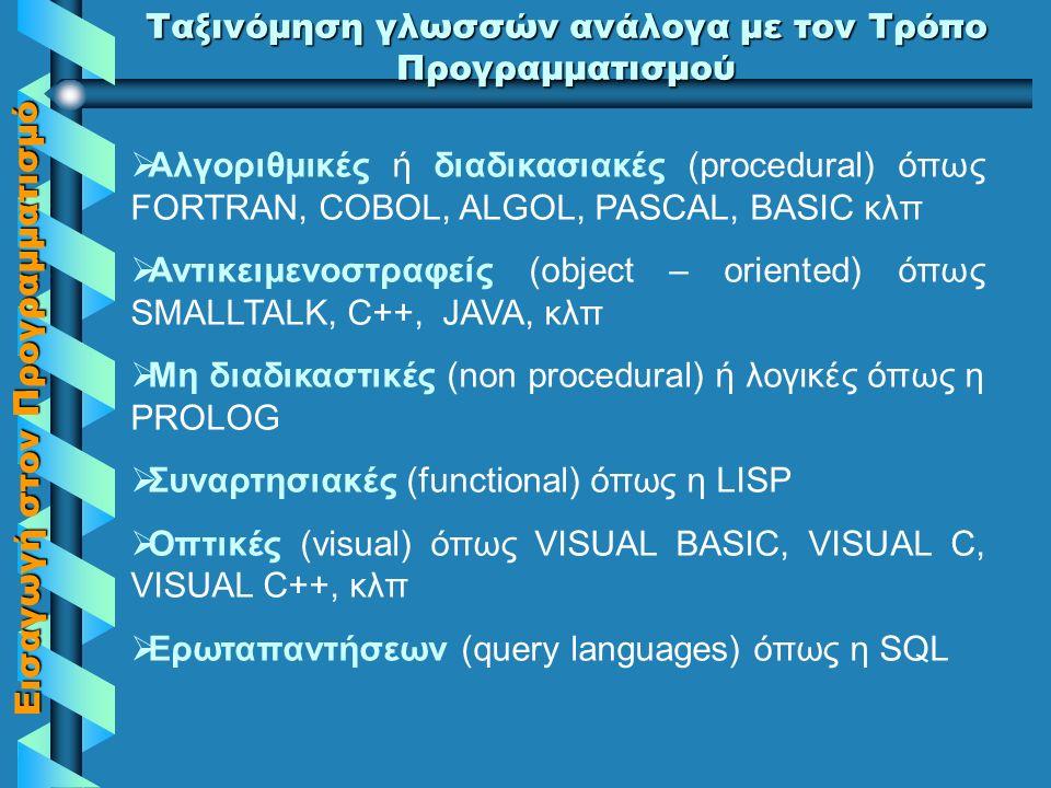 Εισαγωγή στον Προγραμματισμό Εργαστήριο Άσκηση Η λύση του προβλήματος «Να γραφτεί αλγόριθμος και πρόγραμμα (με την εντολή ΟΣΟ) που να εμφανίζει τους αριθμούς από το 1 έως το 20.» δίνεται παρακάτω..