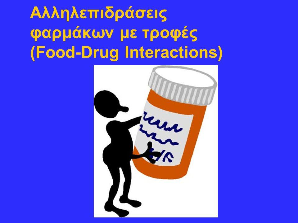 Αλληλεπιδράσεις φαρμάκων με τροφές (Food-Drug Interactions)