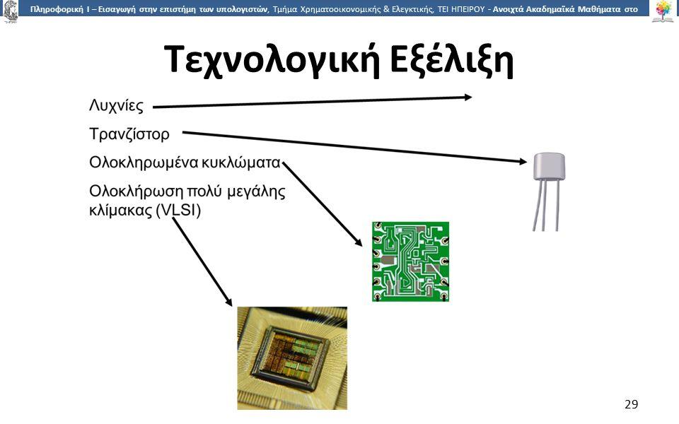 2929 Πληροφορική Ι – Εισαγωγή στην επιστήμη των υπολογιστών, Τμήμα Χρηματοοικονομικής & Ελεγκτικής, ΤΕΙ ΗΠΕΙΡΟΥ - Ανοιχτά Ακαδημαϊκά Μαθήματα στο ΤΕΙ