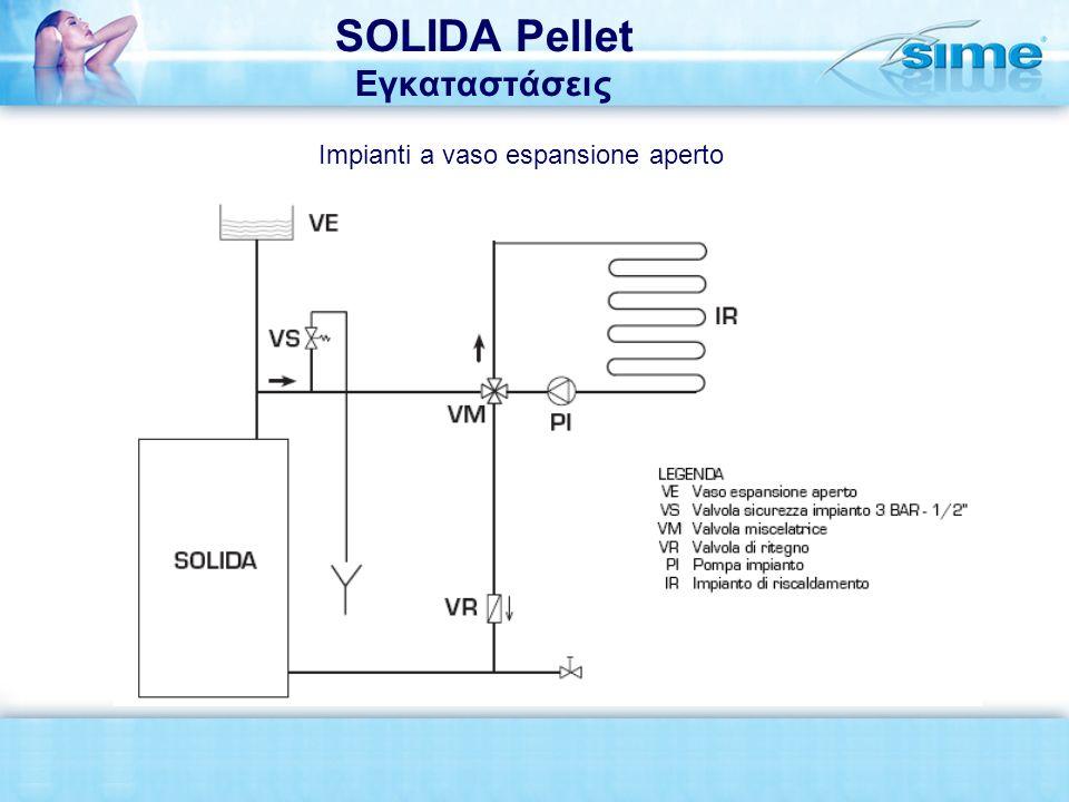 SOLIDA Pellet Εγκαταστάσεις Impianti a vaso espansione aperto