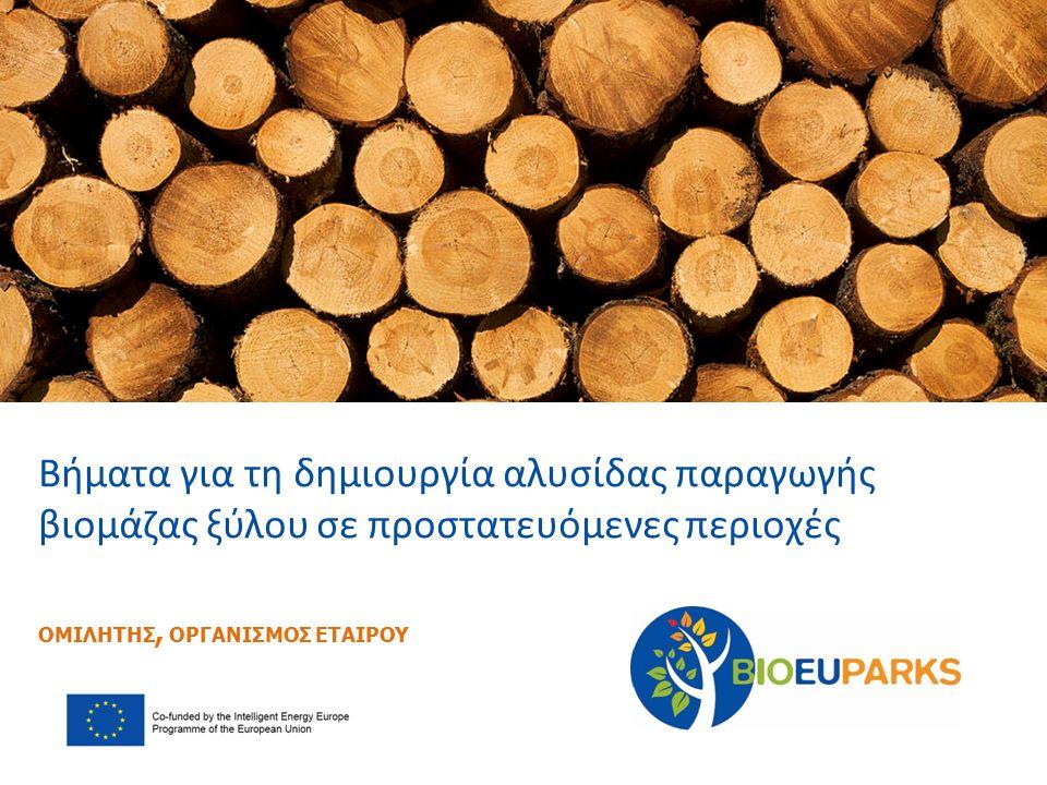 Βήματα για τη δημιουργία αλυσίδας παραγωγής βιομάζας ξύλου σε προστατευόμενες περιοχές ΟΜΙΛΗΤΗΣ, ΟΡΓΑΝΙΣΜΟΣ ΕΤΑΙΡΟΥ