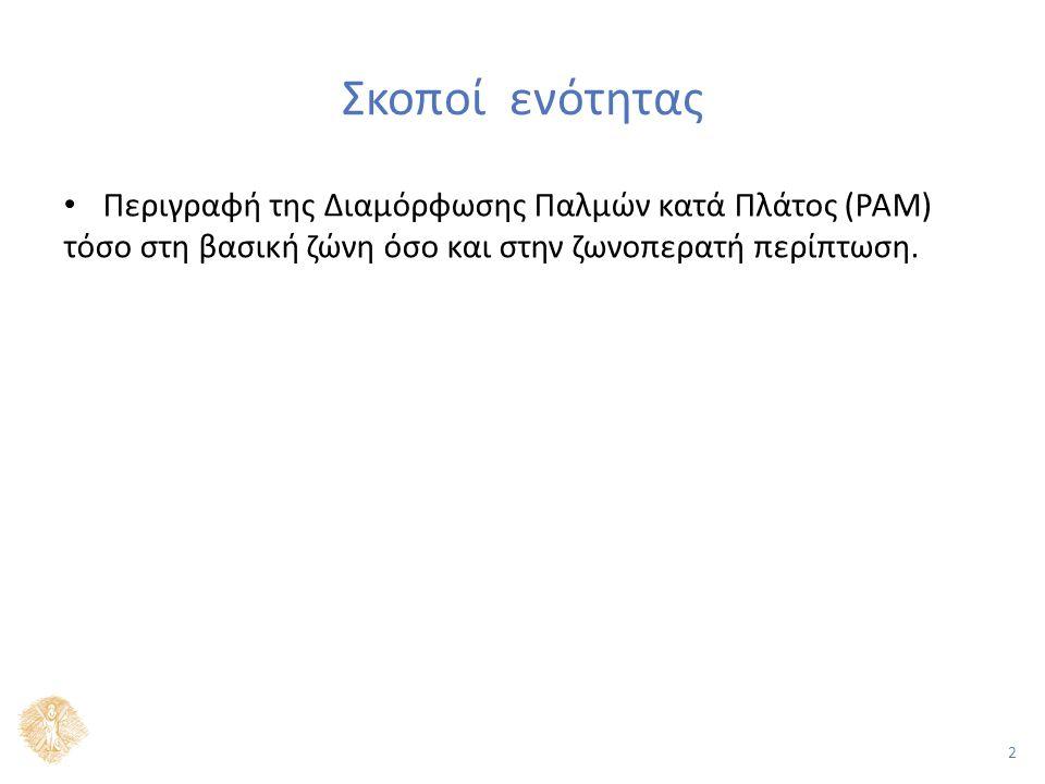 2 Σκοποί ενότητας Περιγραφή της Διαμόρφωσης Παλμών κατά Πλάτος (PAM) τόσο στη βασική ζώνη όσο και στην ζωνοπερατή περίπτωση.