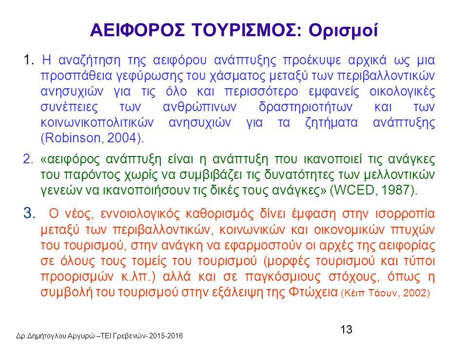 13 ΑΕΙΦΟΡΟΣ ΤΟΥΡΙΣΜΟΣ: Ορισμοί 1.