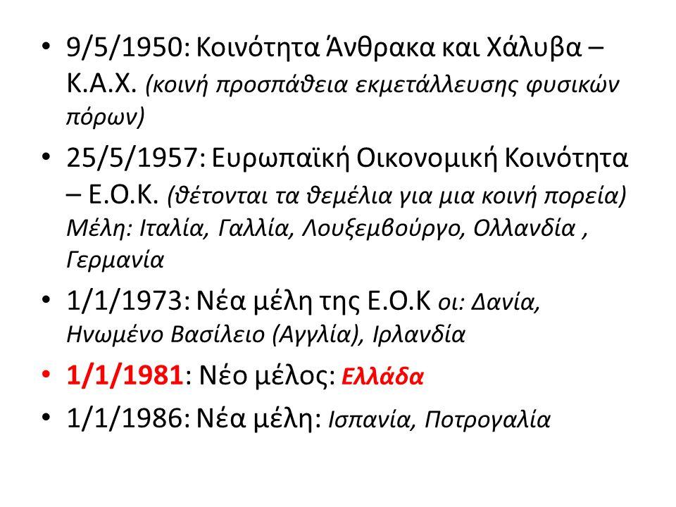 9/5/1950: Κοινότητα Άνθρακα και Χάλυβα – Κ.Α.Χ.