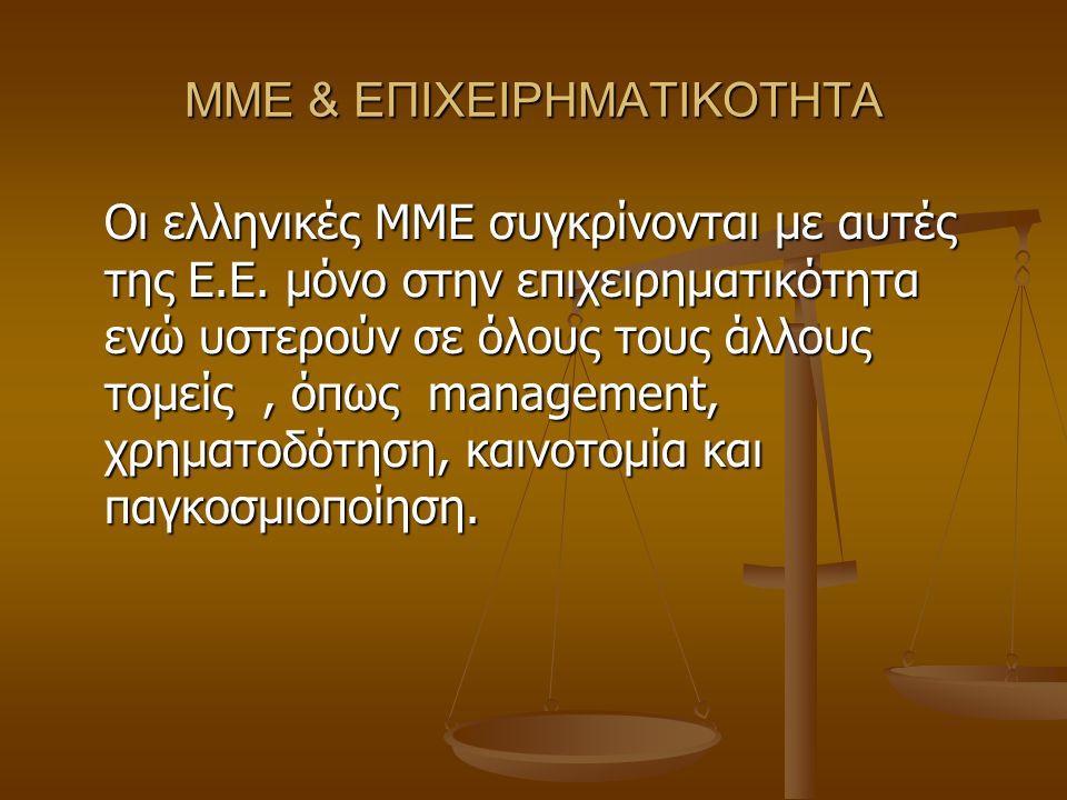 ΜΜΕ & ΕΠΙΧΕΙΡΗΜΑΤΙΚΟΤΗΤΑ Οι ελληνικές ΜΜΕ συγκρίνονται με αυτές της Ε.Ε.