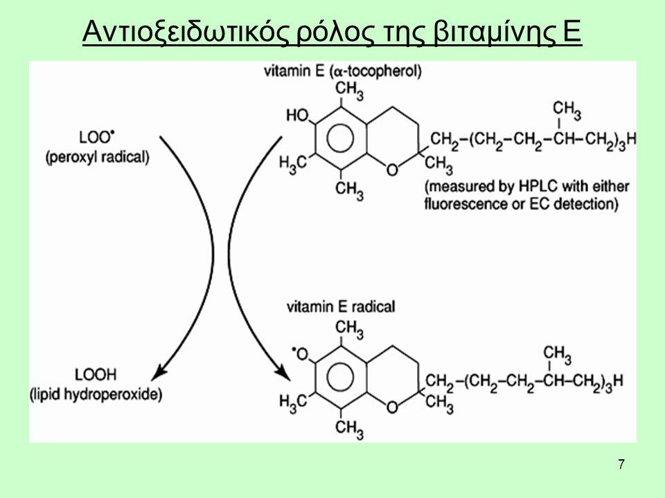 7 Αντιοξειδωτικός ρόλος της βιταμίνης Ε