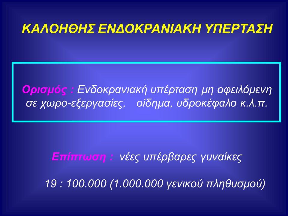 ΚΑΛΟΗΘΗΣ ΕΝΔΟΚΡΑΝΙΑΚΗ ΥΠΕΡΤΑΣΗ Ορισμός : Ενδοκρανιακή υπέρταση μη οφειλόμενη σε χωρο-εξεργασίες, οίδημα, υδροκέφαλο κ.λ.π.