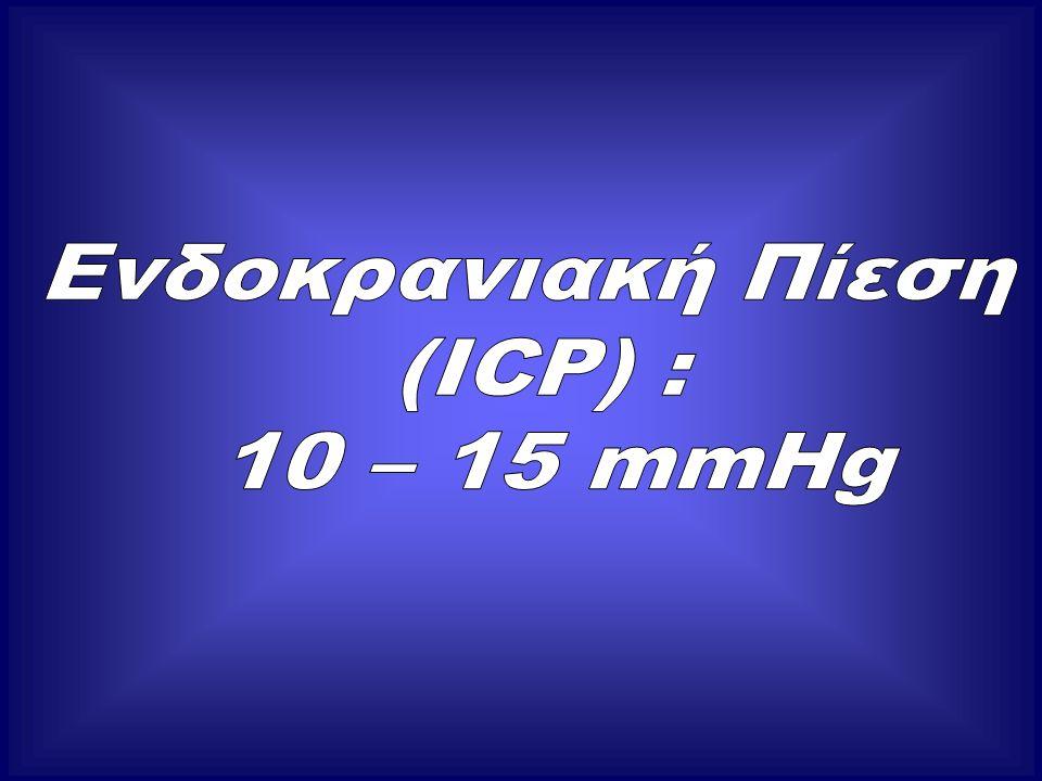 Θεραπευτική αντιμετώπιση Αιτιολογική  χειρουργική αφαίρεση χωροεξεργασιών  παροχέτευση υδροκεφάλου  αντιοιδηματική αγωγή (κορτικοειδή, μαννιτόλη)  βαρβιτουρικό κώμα (μείωση εγκεφαλικού μεταβολισμού εγκεφαλικής αιματώσεως)