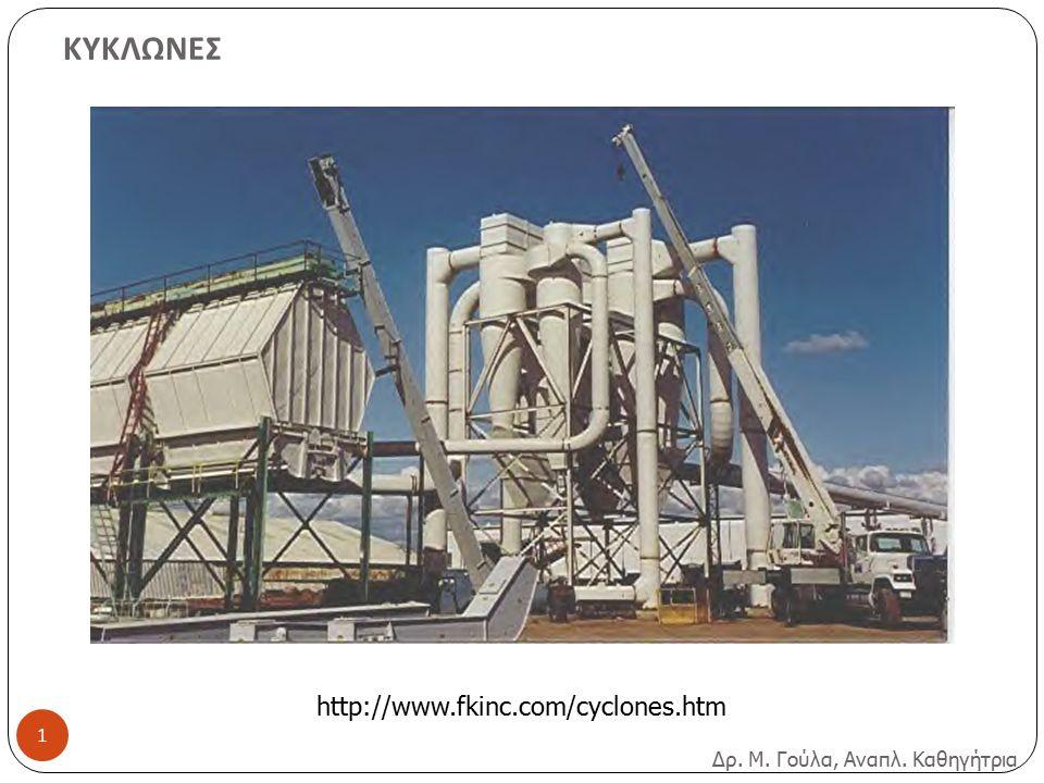 ΚΥΚΛΩΝΕΣ Δρ. Μ. Γούλα, Αναπλ. Καθηγήτρια http://www.fkinc.com/cyclones.htm 1