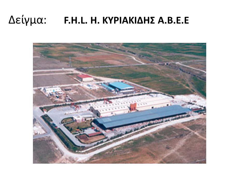 Δείγμα: F.H.L. H. ΚΥΡΙΑΚΙΔΗΣ Α.Β.Ε.Ε