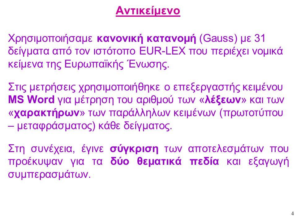 35 Τελικά συμπεράσματα Σε περιπτώσεις κειμένων στα οποία τόσο το πρωτότυπο όσο και το μετάφρασμα έχουν την ίδια μορφοτύπηση (διάρθρωση, συγκρότηση, σελιδοποίηση κτλ.) το ελληνικό μετάφρασμα έχει μεγαλύτερη φυσική έκταση.