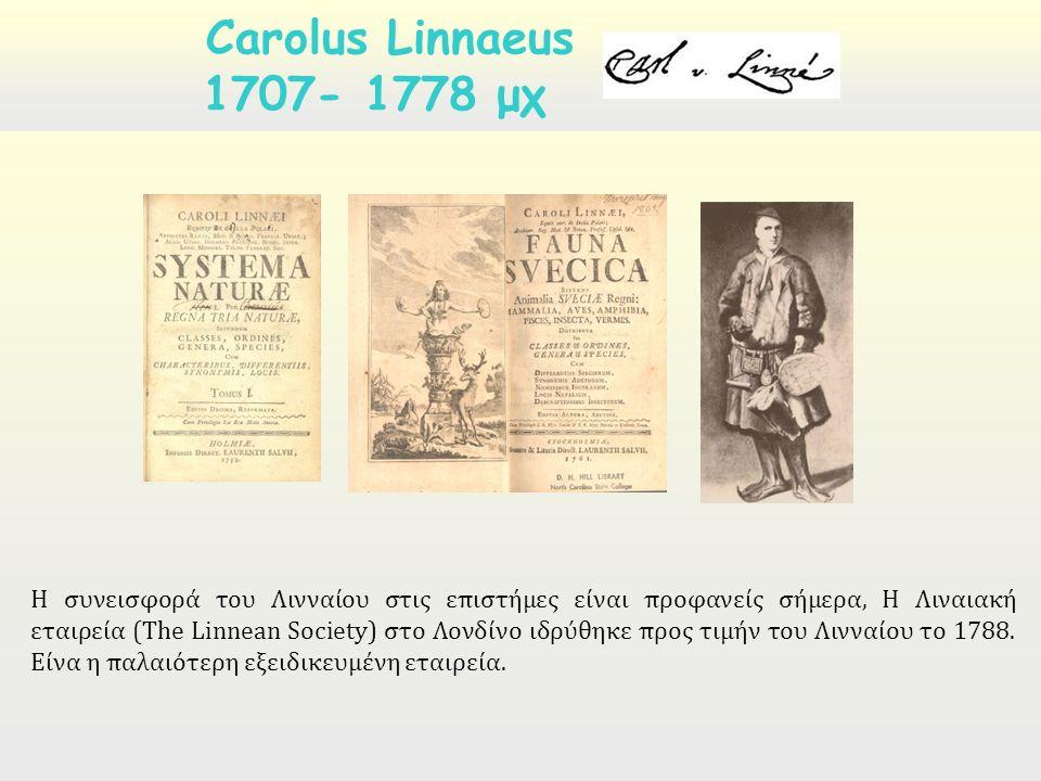 Η συνεισφορά του Λινναίου στις επιστήμες είναι προφανείς σήμερα, Η Λιναιακή εταιρεία (The Linnean Society) στο Λονδίνο ιδρύθηκε προς τιμήν του Λινναίου το 1788.