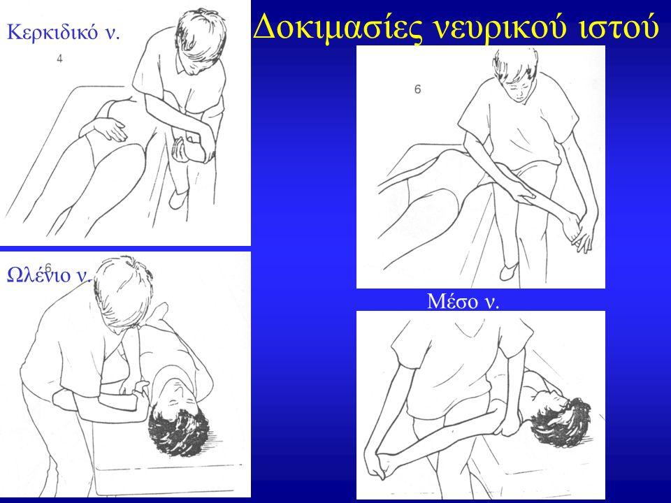 Δοκιμασίες νευρικού ιστού Κερκιδικό ν. Ωλένιο ν. Μέσο ν.
