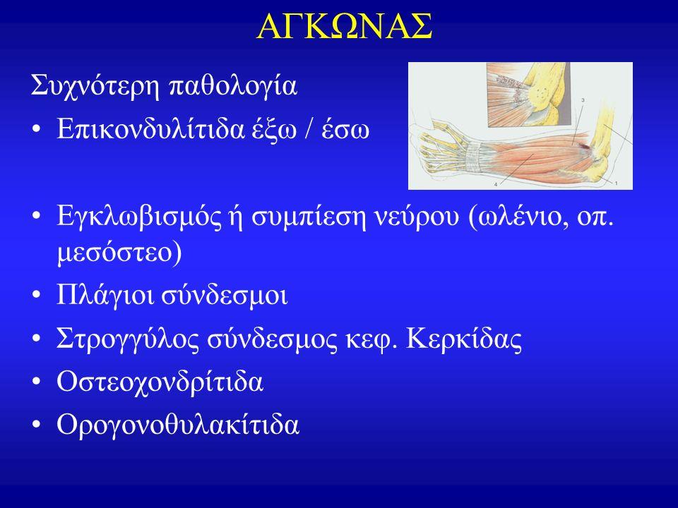 Καρπιαίος σωλήνας Τενοντοελυτρίτιδα Bρ.Eκτ-Mακρ. Aπαγ. DeQuervain
