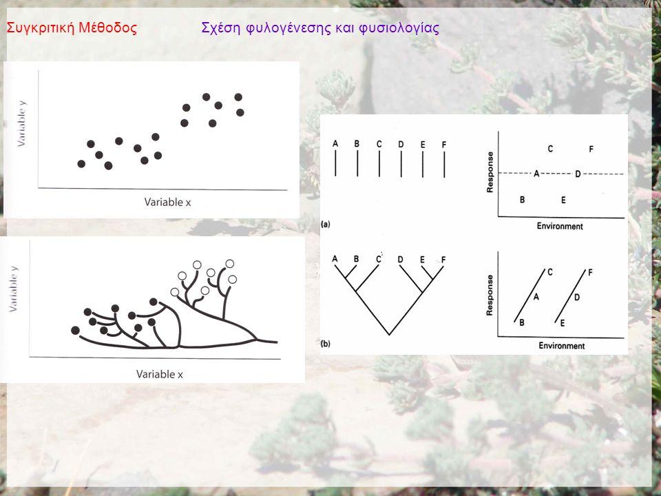 Συγκριτική Μέθοδος Σχέση φυλογένεσης και φυσιολογίας