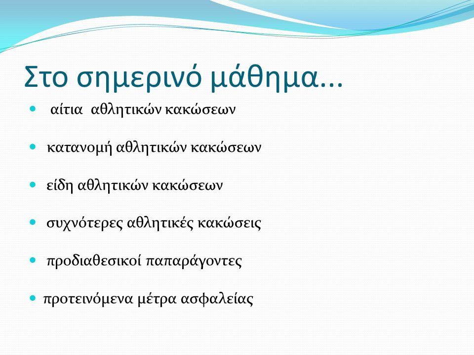 Α) Διάστρεμμα: Γ΄βαθμού: Ολική ρήξη συνδέσμων Αδυναμία εκτέλεσης κινήσεων Αστάθεια στην άρθρωση Οίδημα, έντονος πόνος, περιορισμός κινήσεων