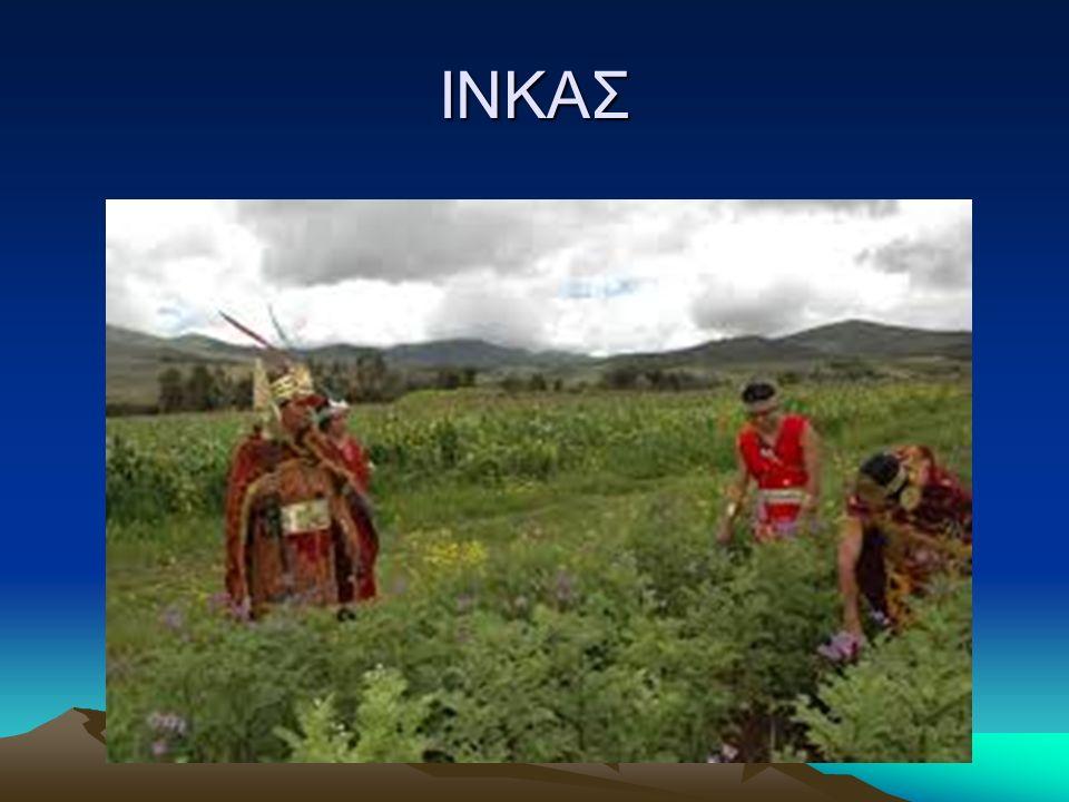 ΙΝΚΑΣ Θρησκεία Η θρησκεία του κράτους ήταν βασισμένη στην λατρεία του Ήλιου και οι αυτοκράτορες Ίνκας θεωρούνταν άμεσοι απόγονοι του και λατρεύονταν σαν θεότητες.