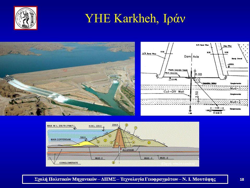 18 ΥΗΕ Karkheh, Ιράν (Πηγή: elm24.com/en) Σχολή Πολιτικών Μηχανικών – ΔΠΜΣ – Τεχνολογία Γεωφραγμάτων – Ν.