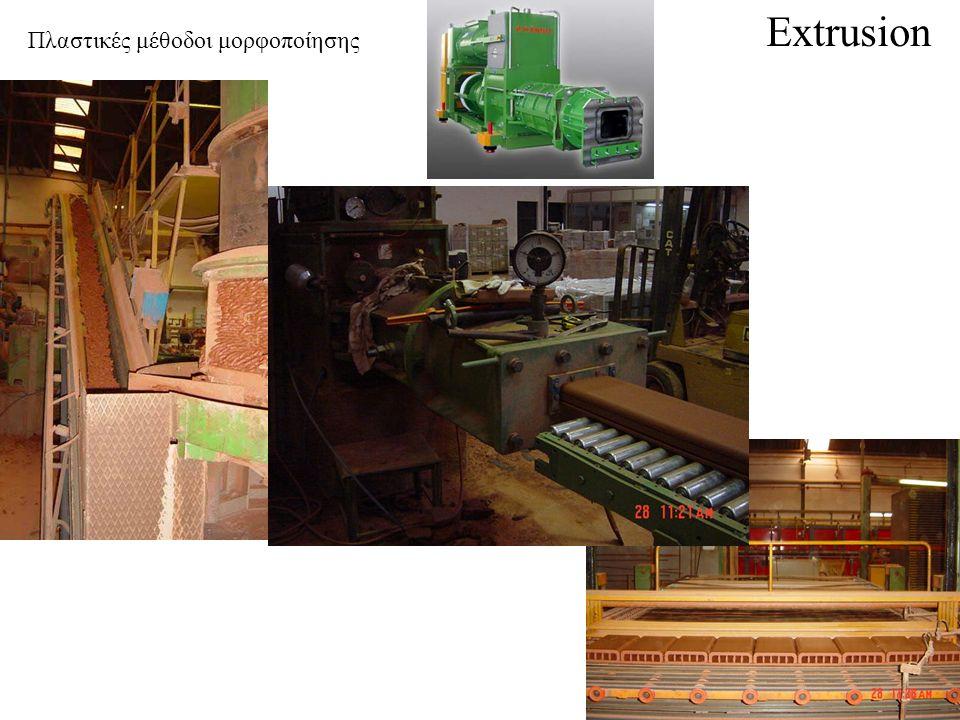 Extrusion Πλαστικές μέθοδοι μορφοποίησης