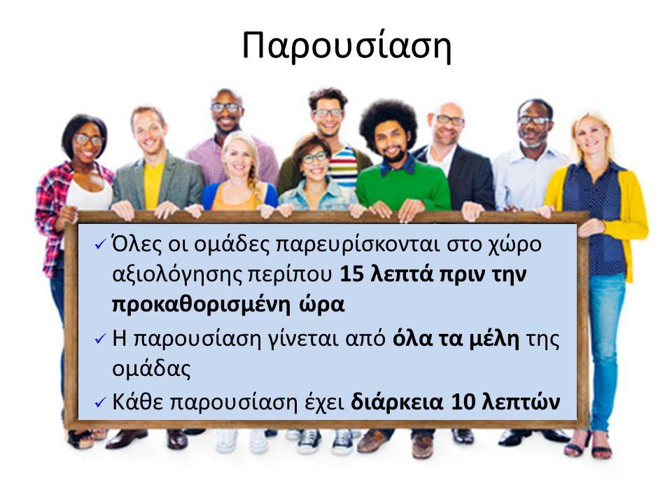 Δεκέμβριος 2012 Δομημένη Δυνατή και καθαρή ομιλία Αυτοπεποίθηση και ενθουσιασμός Οπτική επαφή Παρουσίαση