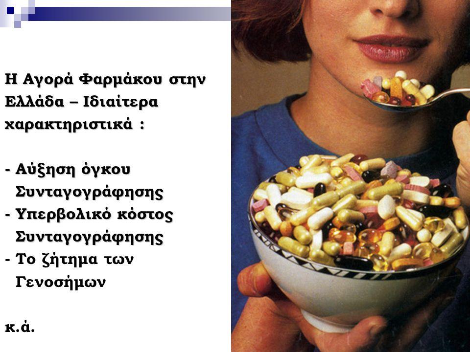25 Η Αγορά Φαρμάκου στην Ελλάδα – Ιδιαίτερα χαρακτηριστικά : - Αύξηση όγκου Συνταγογράφησης Συνταγογράφησης - Υπερβολικό κόστος Συνταγογράφησης Συνταγ