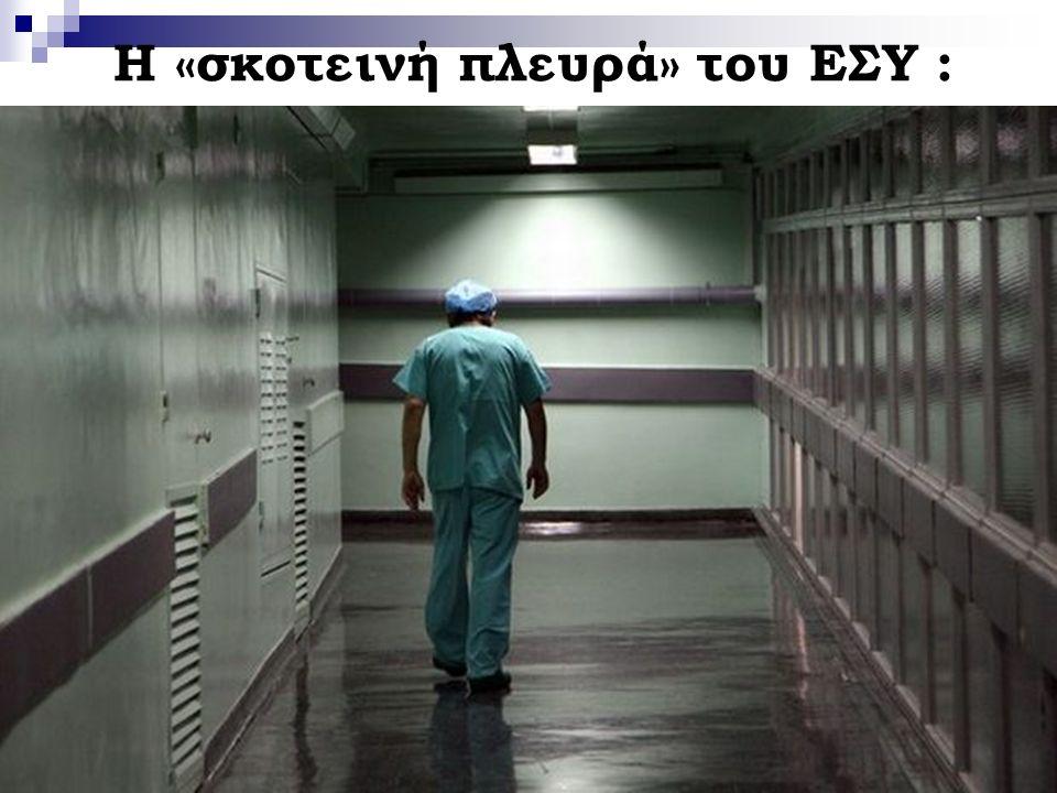 4  Χαμηλή ικανοποίηση των Ελλήνων από το Σύστημα Υγείας, ιδιαίτερα σε σχέση με τις δαπάνες που καταβάλλονται.