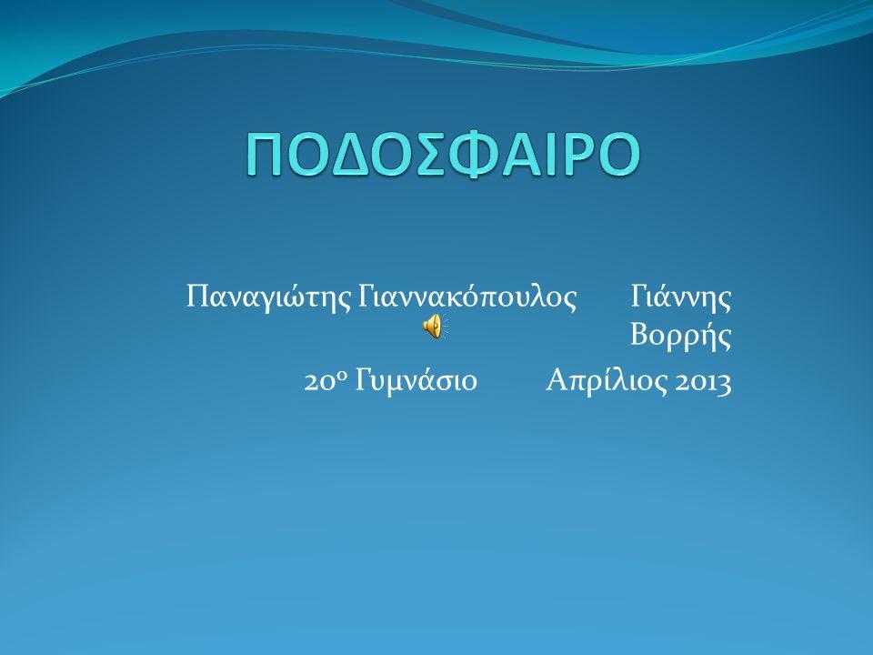Παναγιώτης Γιαννακόπουλος Γιάννης Βορρής 20 ο Γυμνάσιο Απρίλιος 2013