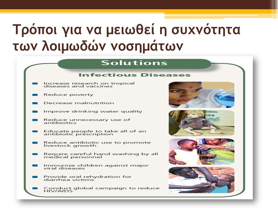 Τρόποι για να μειωθεί η συχνότητα των λοιμωδών νοσημάτων