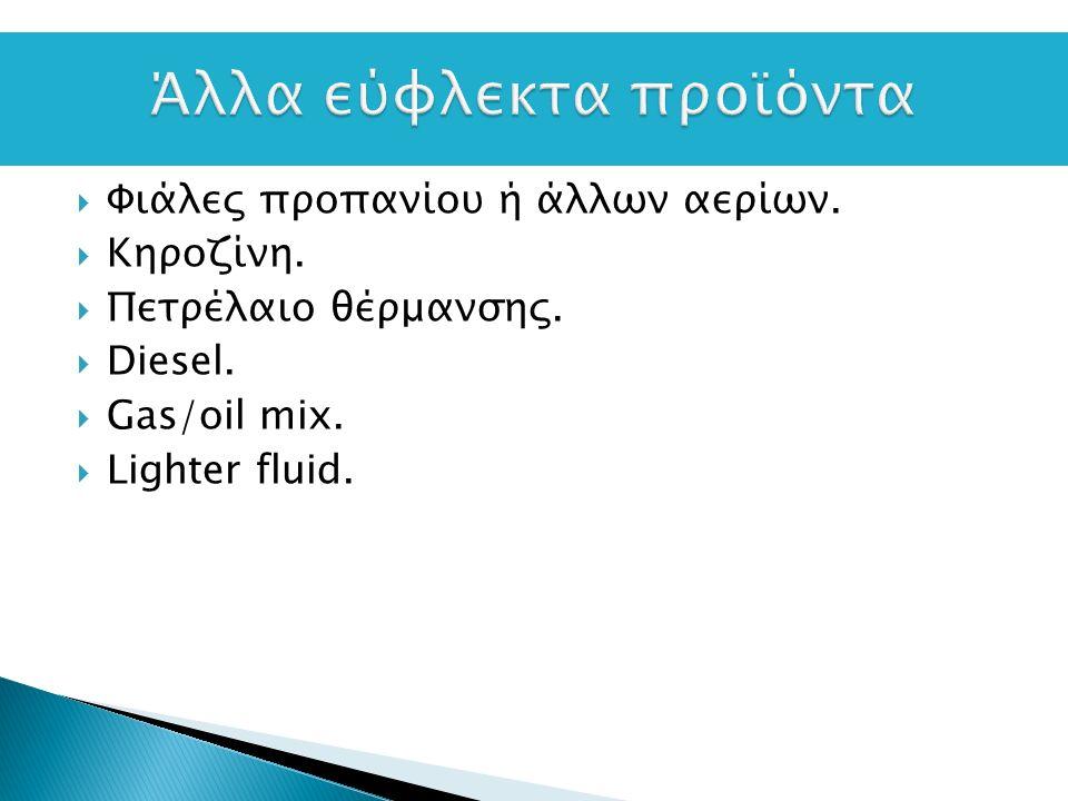 Φιάλες προπανίου ή άλλων αερίων.  Κηροζίνη.  Πετρέλαιο θέρμανσης.