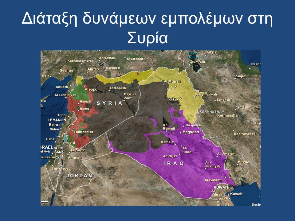 Διάταξη δυνάμεων εμπολέμων στη Συρία